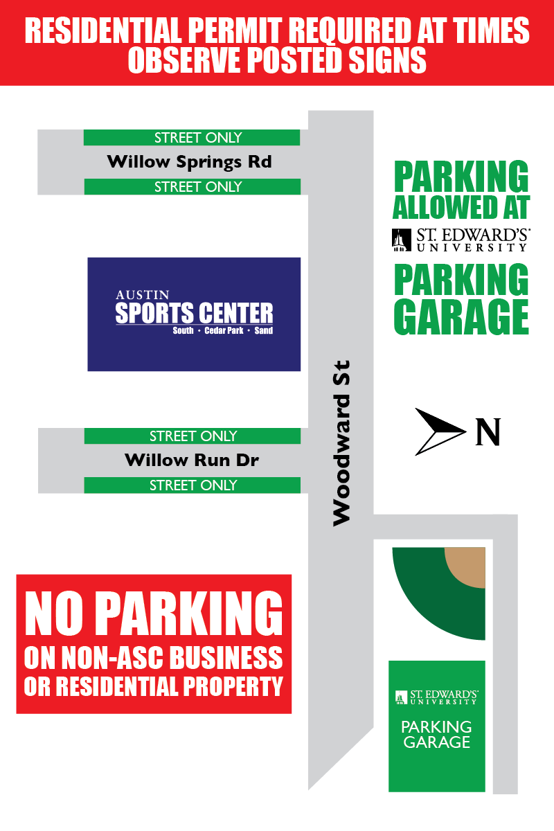 ASC South parking map
