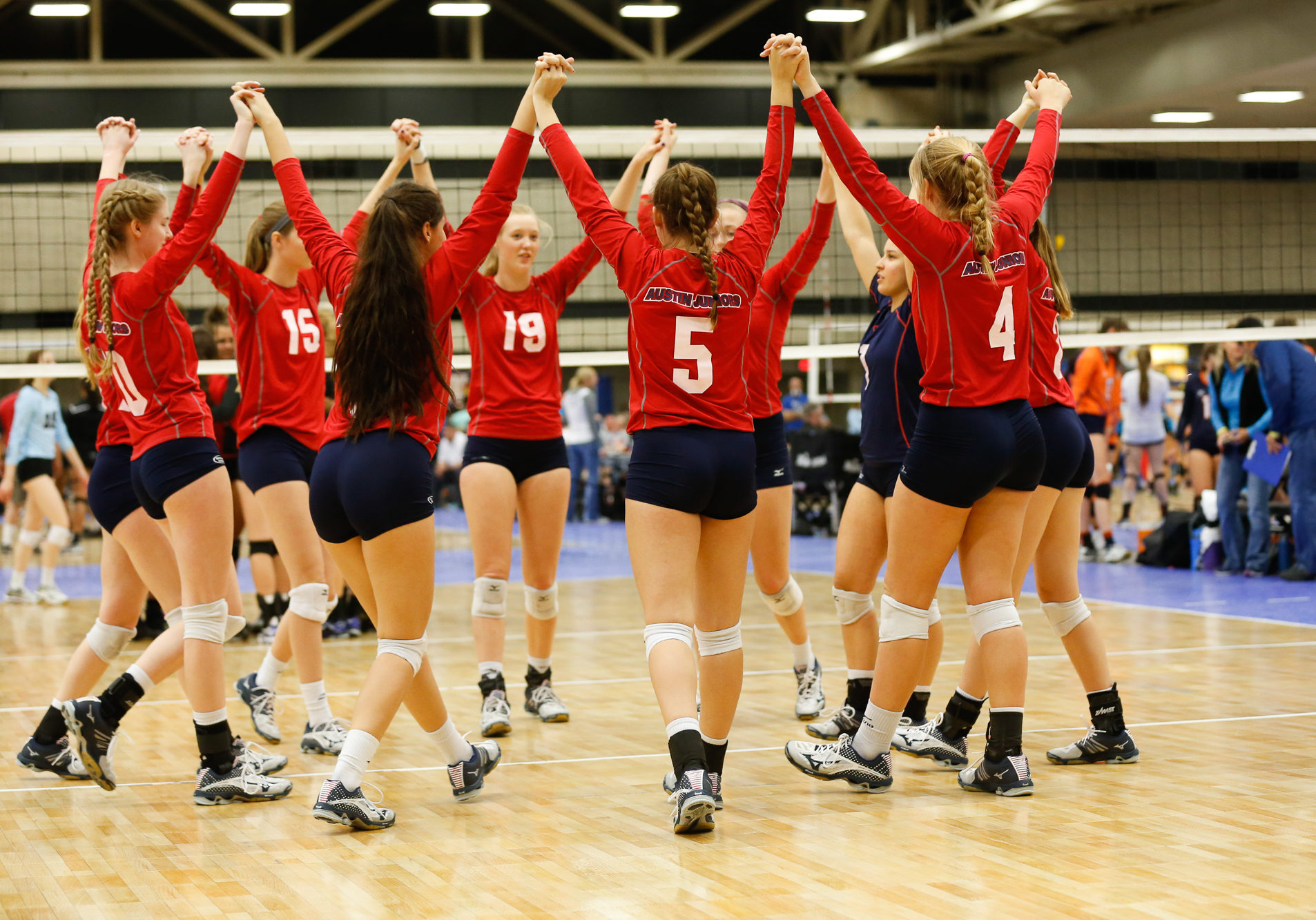 Austin Juniors Volleyball competes at the Lone Star Classic Volleyball Tournament in Dallas, Texas on April 23, 2016. (Photo by/Sharon Ellman)